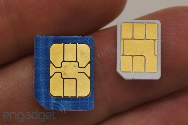 Diferença entre o micro-SIM e o nano-SIM (Foto: Reprodução/Engadget)
