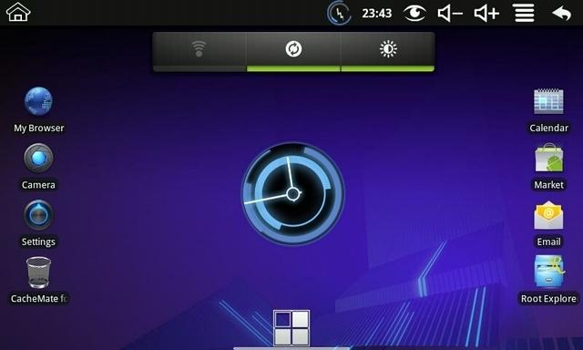 Interface do tablet WM8650 (Foto: Reprodução)