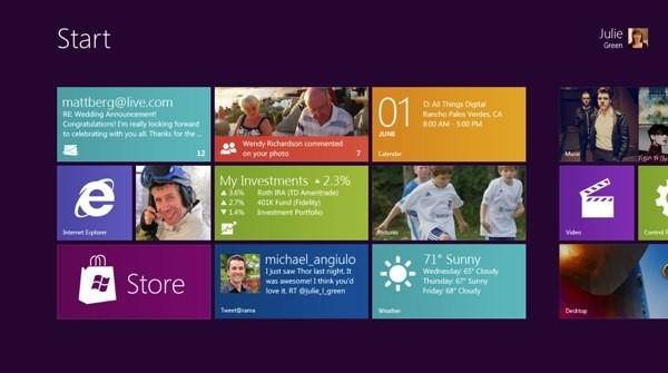 Interface Metro é uma das principais novidades do Windows 8 (Foto: Reprodução)