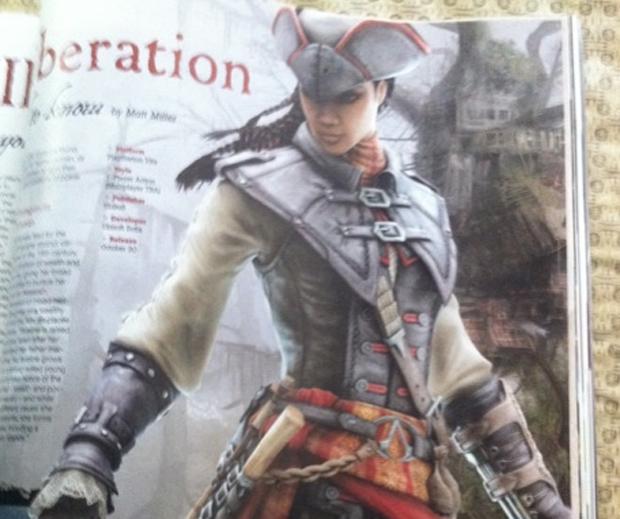 Aveline é a heroína de Assassin's Creed III: Liberation (Foto: Reprodução/Game Informer)