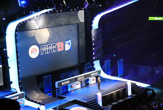 Fifa 13 na apresentação da Microsoft na E3 2012 (Foto: Léo Torres / TechTudo)