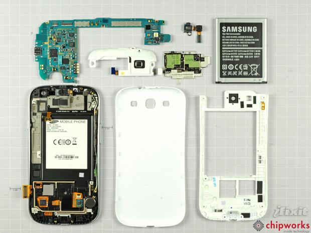 Galaxy S III destrinchado (Foto: Reprodução/iFixit)