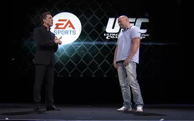 Dana White no palco da EA (Foto: Reprodução)