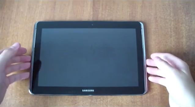 Samsung Galaxy Note 10.1 (Foto: Reprodução/YouTube)