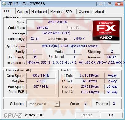Overclock de processador AMD foi impressionante (Foto: Reprodução)