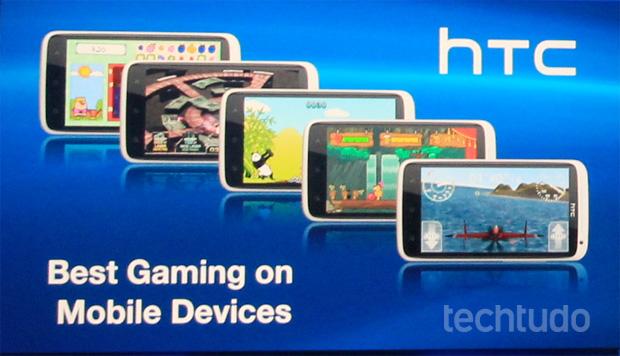 Durante o anuncio do PlayStation Mobile, Sony anúnciou uma parceria com a HTC (Foto: Léo Torres/TechTudo)
