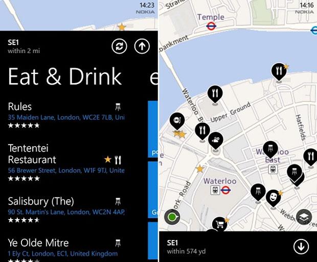 Nokia Mapas permite que usuários escrevam resenhas sobre os lugares que visitam (Foto: Reprodução)