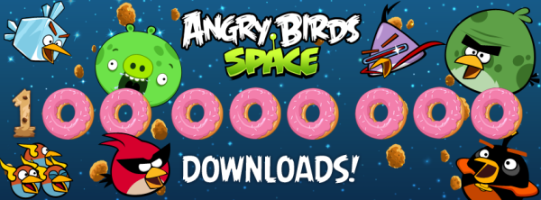 Quarto jogo da Série, Angry Birds Space já tem 100 milhões de download (Foto: Reprodução))
