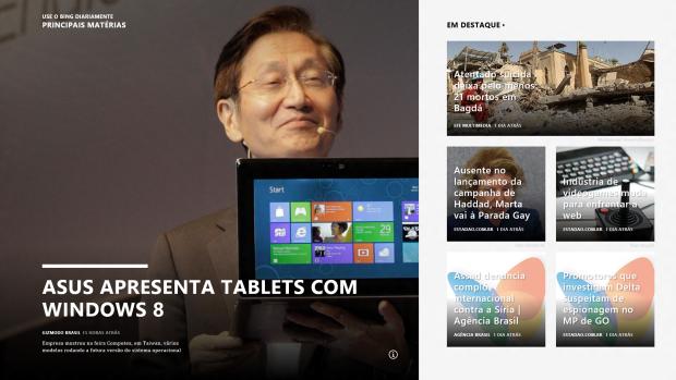 Novo app Notícias, da Microsoft.