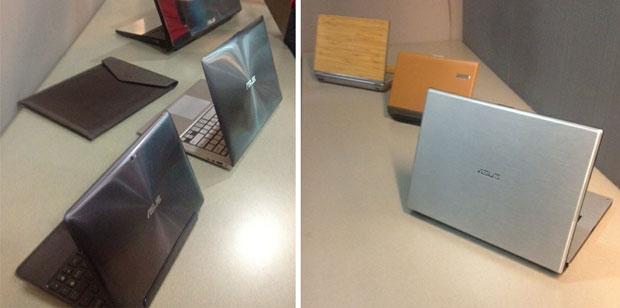 Notebooks desenvolvidos pela equipe da Asus Design (Foto: Nick Ellis)