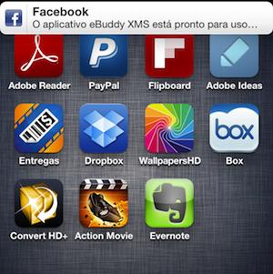 Aviso do Facebook no iPhone (Foto: Reprodução/TechTudo)