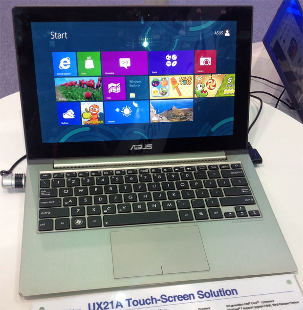 Zenbook Prime UX21A com tela multi-touch (Foto: Nick Ellis)