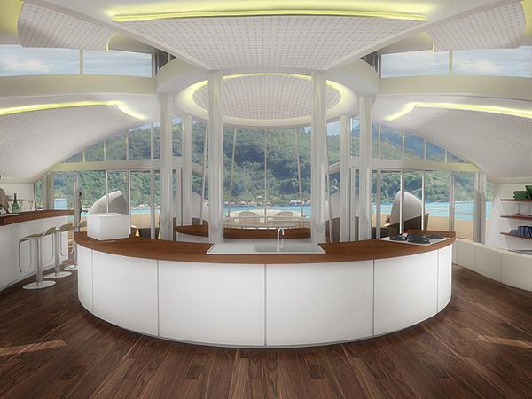 A película fotosensível estaria presente também no inteiror do resort, absorvendo a luz artificial (Foto: Divulgação)