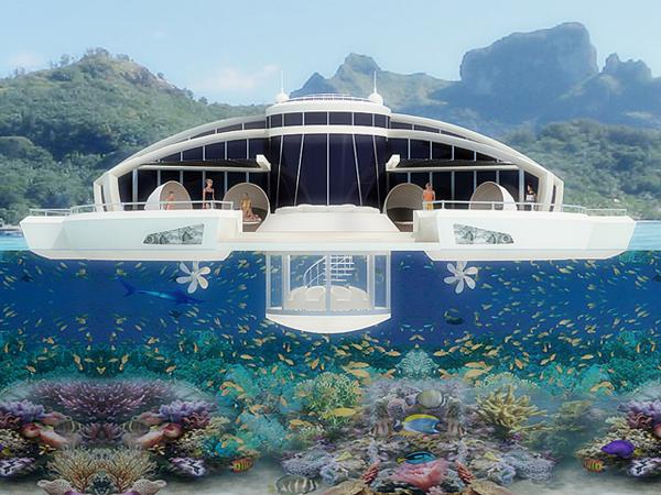 O resort também traria um amplo deck com espaço para espreguiçadeiras e uma jacuzzi (Foto: Divulgação)