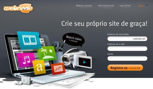 Site Webnode (Foto: Reprodução)