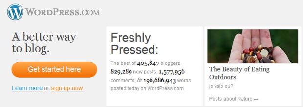 Site WordPress.com (Foto: Reprodução)