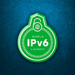 Logo oficial de lançamento do IPv6 (Foto: Divulgação)