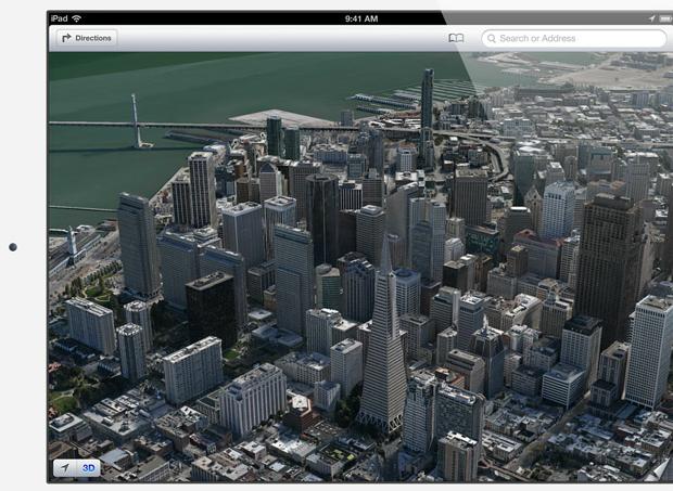 """Mapas em 3D por todo o mundo com renderização das imagens """"ao vivo"""" (Foto: Divulgação)"""