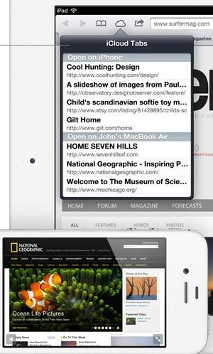 Abas do iCloud no Safari (Foto: Divulgação)