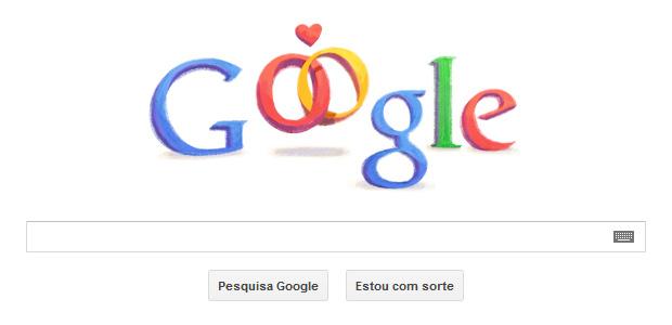 Dia dos Namorados é comemorado pelo Google (Foto: Reprodução/Google)