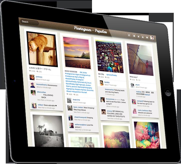 Pinstagram  no iPad (Foto: Divulgação)