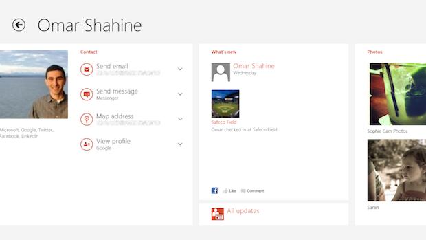 Aplicativo Pessoas no Windows 8 (Foto: Divulgação)