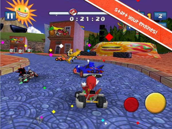 Knuckles, eterno rival do Sonic, também está disponível (Foto: Divulgação)