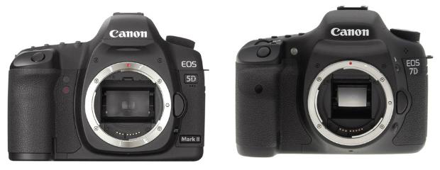Câmera 5D é exemplo de full frame com sensor maior. 7D possui o cropado. (Foto: Reprodução)