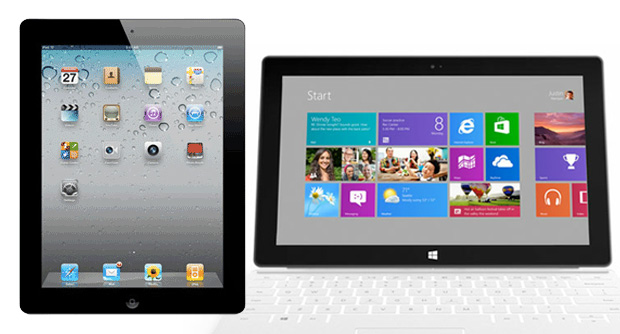 Proporção aproximada entre o iPad e o Surface (Foto: TechTudo)