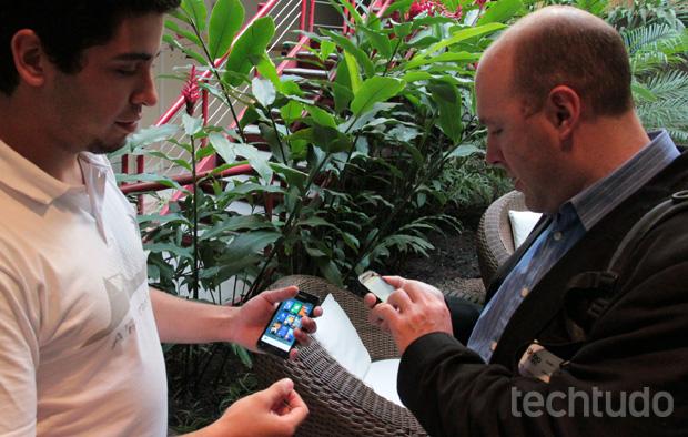 Demonstração foi feita em smartphones com hardwares potentes, mas o foco é outro (Foto: Juliana de Sousa/TechTudo)