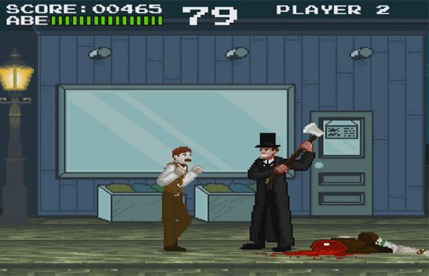 Presidente dos Estados Unidos vira caçador de vampiros em jogo 8 bits fictício (Foto: Divulgação)