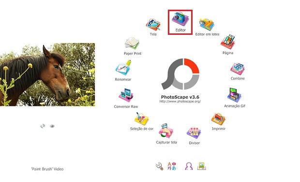 Ferramenta do PhotoScape para edição de imagem