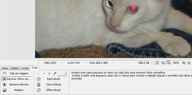 Remover o olho vermelho com o PhotoScape