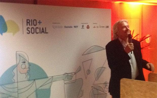 Sir Richard Branson na festa de encerramento do Rio+Social (Foto: Nick Ellis)