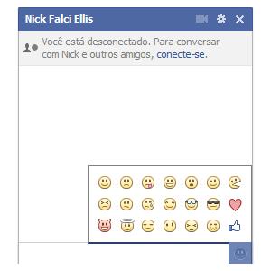 Emoticons no chat do Facebook (Foto: Reprodução)
