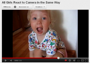 All Girls React to Camera in the Same Way  (Foto: Reprodução)
