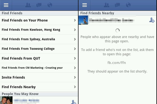 Novo recurso 'encontre amigos próximos' (Foto: Reprodução) (Foto: Novo recurso 'encontre amigos próximos' (Foto: Reprodução))