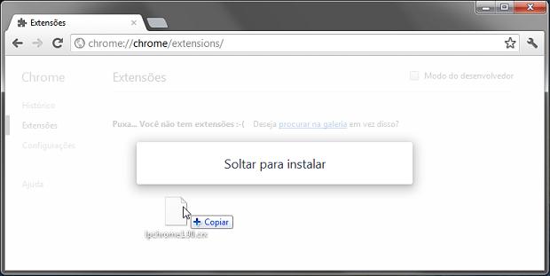 Próxima versão estável do navegador facilitará a instalação de extensões (Foto: Reprodução/Helito Bijora)