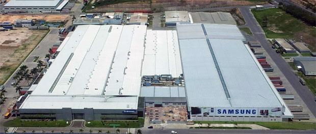 Vista aérea da fábrica da Samsung em Manaus (Foto: Divulgação)