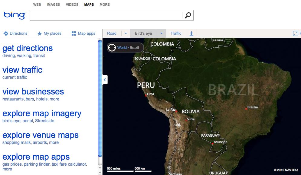 Bing Maps vai ganhar a maior atualização de imagens, somando ao todo 165 TB (Foto: Reprodução/Bing)