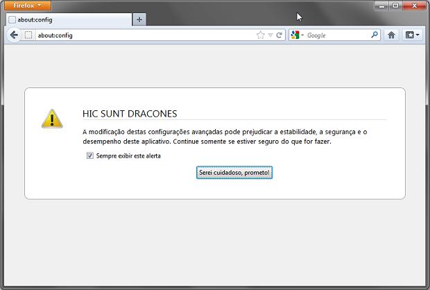 Acessando a página de configurações do Firefox (Foto: Reprodução/Helito Bijora)