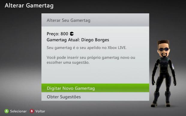 Agora você basta digitar a nova Gamertag (Foto: Reprodução)