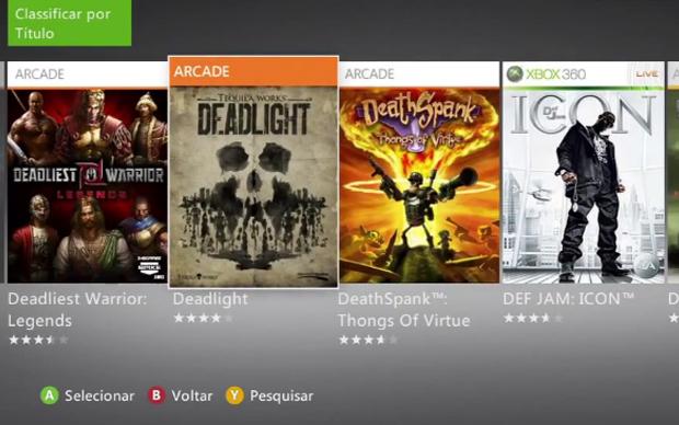 Depois de adquirir um jogo na Xbox Live, você pode baixá-lo em outro Xbox 360  (Foto: Reprodução)
