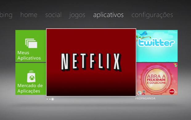 O Xbox 360 também conta com o serviço Netflix (Foto: Reprodução)