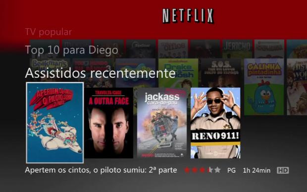 Netflix no Xbox 360 (Foto: Reprodução)