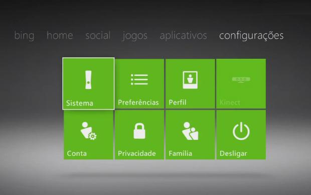 Acesse a opção Sistema na aba Configurações (Foto: Reprodução)