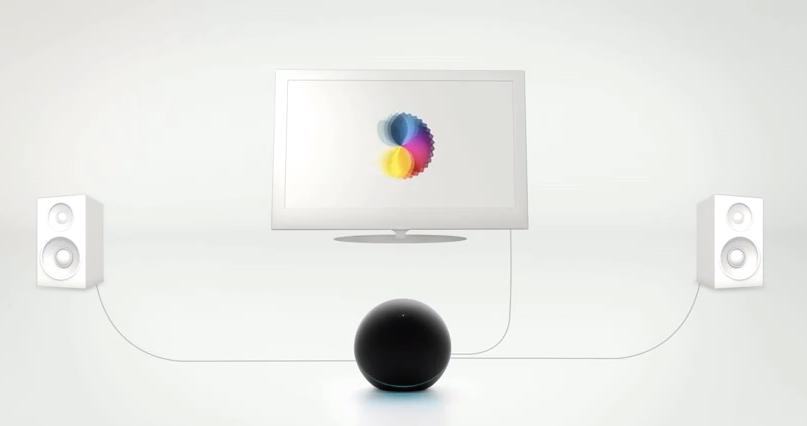 """Nexus Q seria o novo sistema do """"Air"""" do Google para levar as mídias dos smartphones e tablets para TV (Foto: Reprodução/YouTube)"""