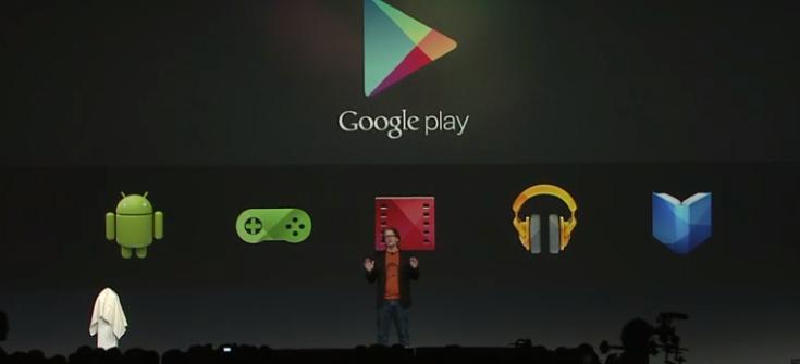 Novidades no Google Play, com games, filmes, seriados, revistas (Foto: Reprodução/YouTube)