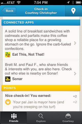 Funcionamento do Foursquare vai ficar bem melhor com a novidade (Foto: Reprodução)