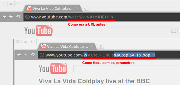 Loop no Youtube